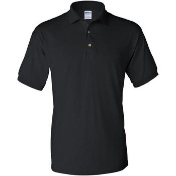 vaatteet Miehet Lyhythihainen poolopaita Gildan 8800 Black