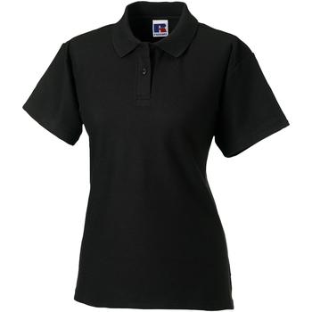 vaatteet Naiset Lyhythihainen poolopaita Jerzees Colours 539F Black