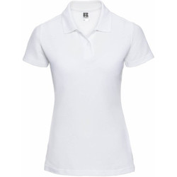 vaatteet Naiset Lyhythihainen poolopaita Jerzees Colours 539F White