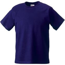 vaatteet Lapset Lyhythihainen t-paita Jerzees Schoolgear ZT180B Purple