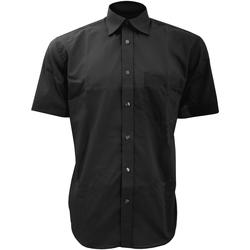 vaatteet Miehet Lyhythihainen paitapusero Kustom Kit KK102 Black
