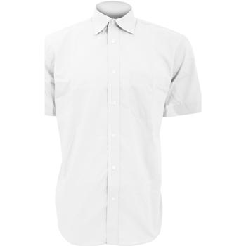vaatteet Miehet Lyhythihainen paitapusero Kustom Kit KK102 White