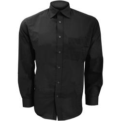 vaatteet Miehet Pitkähihainen paitapusero Kustom Kit KK104 Black