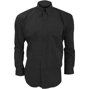 vaatteet Miehet Pitkähihainen paitapusero Kustom Kit KK105 Black