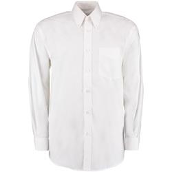 vaatteet Miehet Pitkähihainen paitapusero Kustom Kit KK105 White