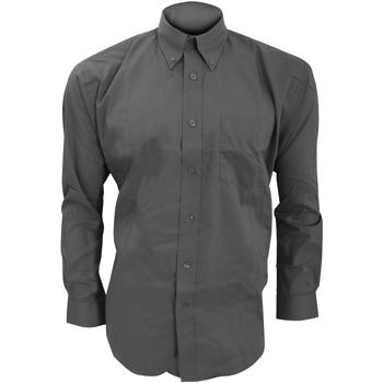 vaatteet Miehet Pitkähihainen paitapusero Kustom Kit KK105 Charcoal