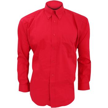 vaatteet Miehet Pitkähihainen paitapusero Kustom Kit KK105 Red