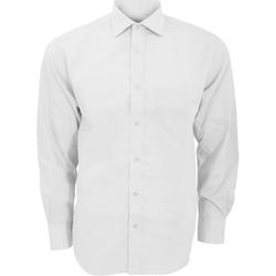 vaatteet Miehet Pitkähihainen paitapusero Kustom Kit KK116 White