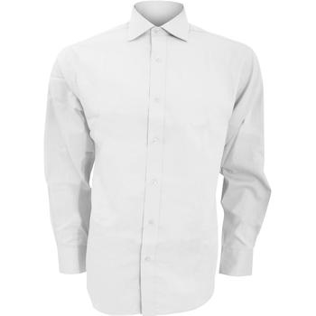 vaatteet Miehet Pitkähihainen paitapusero Kustom Kit KK118 White