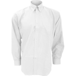 vaatteet Miehet Pitkähihainen paitapusero Kustom Kit KK351 White