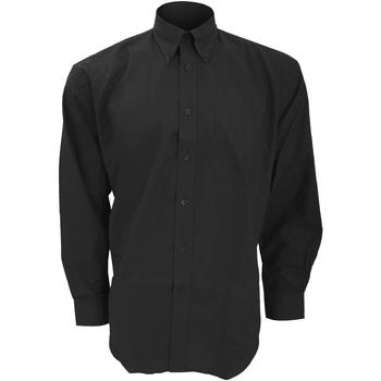 vaatteet Miehet Pitkähihainen paitapusero Kustom Kit KK351 Black