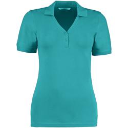 vaatteet Naiset Lyhythihainen poolopaita Kustom Kit Sophia Turquoise