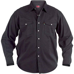 vaatteet Miehet Pitkähihainen paitapusero Duke  Black