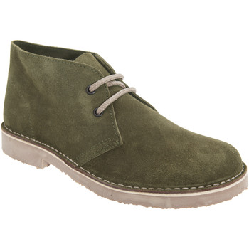 kengät Naiset Bootsit Roamers Round Toe Khaki