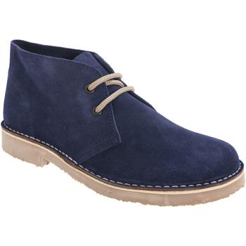 kengät Naiset Bootsit Roamers Round Toe Navy