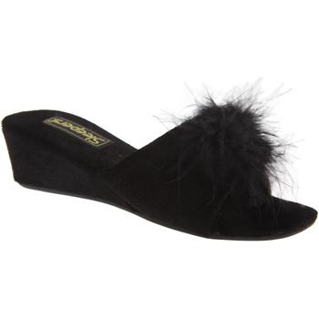 kengät Naiset Sandaalit Sleepers Rosette Black