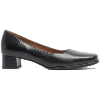 kengät Naiset Korkokengät Amblers WALFORD SHOE X WIDE (BLACK/NAVY) Black