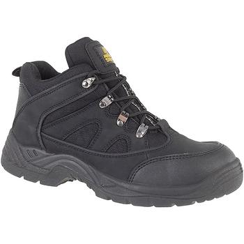 kengät Miehet Turvakenkä Amblers FS151 BLACK MID BOOT SB-P Black
