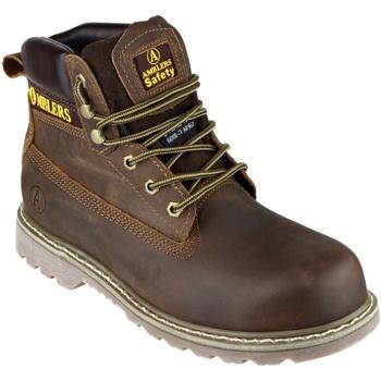 kengät Miehet Turvakenkä Amblers FS164 Safety Boots Brown