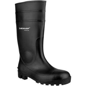 kengät Miehet Turvakenkä Dunlop FS1600/142PP Wellington Black