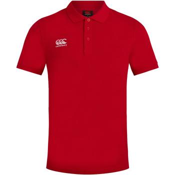 vaatteet Miehet Lyhythihainen poolopaita Canterbury CN220 Red