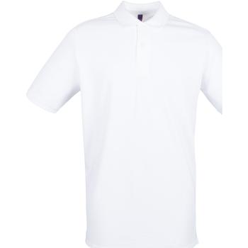 vaatteet Miehet Lyhythihainen poolopaita Henbury HB101 White