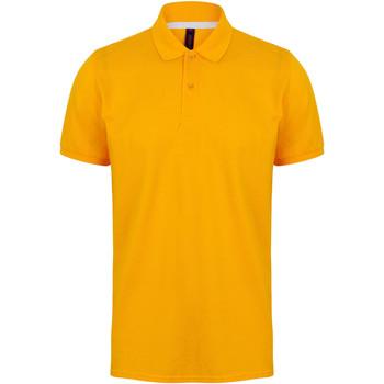vaatteet Miehet Lyhythihainen poolopaita Henbury HB101 Gold