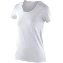 vaatteet Naiset Lyhythihainen t-paita Spiro SR280F White