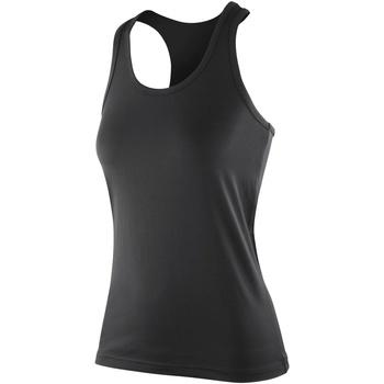 vaatteet Naiset Hihattomat paidat / Hihattomat t-paidat Spiro SR281F Black