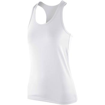 vaatteet Naiset Hihattomat paidat / Hihattomat t-paidat Spiro SR281F White