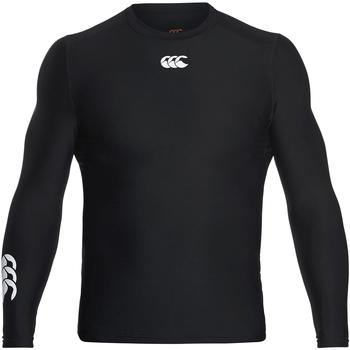 vaatteet Miehet T-paidat pitkillä hihoilla Canterbury CN360 Black
