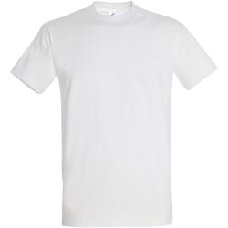 vaatteet Miehet Lyhythihainen t-paita Sols 11500 White