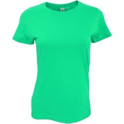 vaatteet Naiset Lyhythihainen t-paita Sols 11502 Emerald