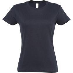 vaatteet Naiset Lyhythihainen t-paita Sols 11502 Navy