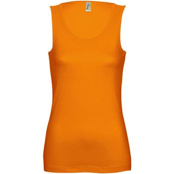 vaatteet Naiset Hihattomat paidat / Hihattomat t-paidat Sols Jane Orange