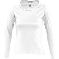 vaatteet Naiset T-paidat pitkillä hihoilla Sols Majestic White