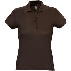 vaatteet Naiset Lyhythihainen poolopaita Sols 11338 Chocolate