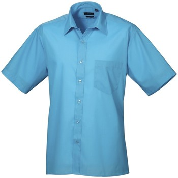 vaatteet Miehet Lyhythihainen paitapusero Premier PR202 Turquoise