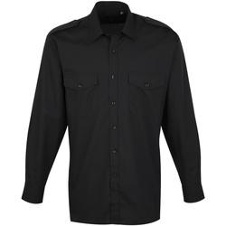 vaatteet Miehet Pitkähihainen paitapusero Premier PR210 Black