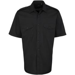 vaatteet Miehet Lyhythihainen paitapusero Premier PR212 Black