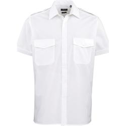 vaatteet Miehet Lyhythihainen paitapusero Premier PR212 White