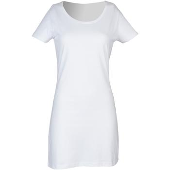 vaatteet Naiset Lyhyt mekko Skinni Fit Scoop Neck White