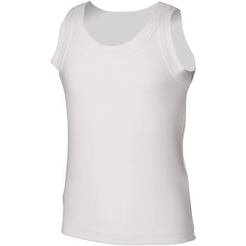 vaatteet Lapset Hihattomat paidat / Hihattomat t-paidat Skinni Fit SM016 White