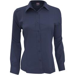 vaatteet Naiset Paitapusero / Kauluspaita Henbury Wicking Navy