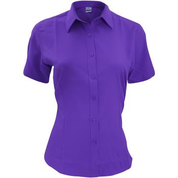 vaatteet Miehet Lyhythihainen paitapusero Henbury HB596 Purple