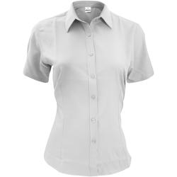 vaatteet Miehet Lyhythihainen paitapusero Henbury HB596 White