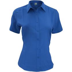 vaatteet Miehet Lyhythihainen paitapusero Henbury HB596 Royal