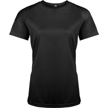 vaatteet Naiset Lyhythihainen t-paita Kariban Proact PA439 Black