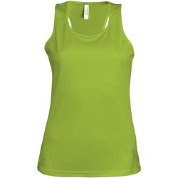 vaatteet Naiset Hihattomat paidat / Hihattomat t-paidat Kariban Proact Proact Lime