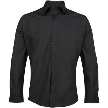 vaatteet Miehet Pitkähihainen paitapusero Premier PR207 Black